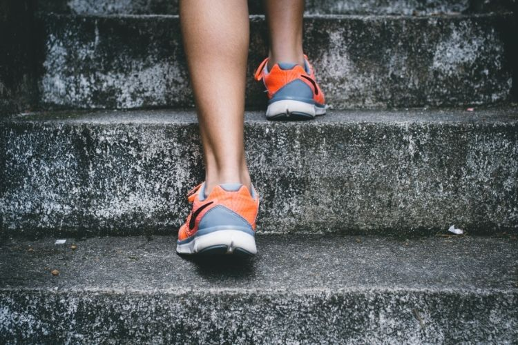 Woman Running to Start Exercise After Diabetes